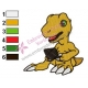 Digimon Agumon Embroidery Design 02